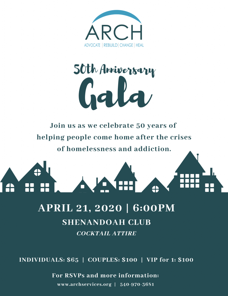 ARCH Roanoke_ 50th Anniversary Gala (Individual Tickets Flyer)