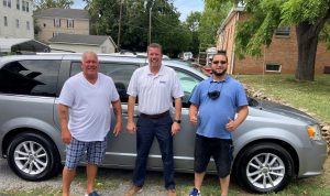 Trust House Directors thank Hart Motor Company for helping with fulfilling a great need- a new van.
